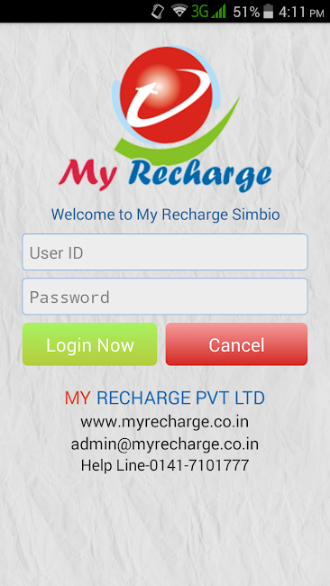 #2. My Recharge Simbio (Android)
