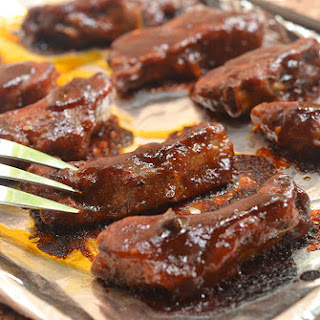 Baby Back Ribs with Coffee Whiskey Barbecue Sauce