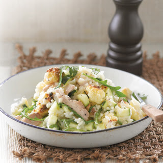 Roasted Cauliflower, Chicken And Rocket Risotto