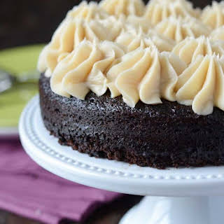 Dark Chocolate Guinness Cake with Baileys Buttercream.
