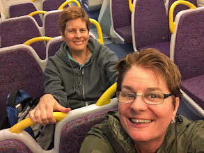 Photo: On the city train in Brisbane, killing 5 hrs layover in da city before we head back to Honolulu for sleep-- after 23 hrs of travel non-stop. Ug.