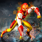 Flame Man Flying Super Hero: City Rescue Mission