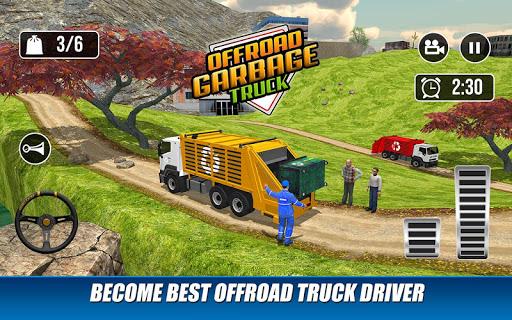 Offroad Garbage Truck: Dump Truck Driving Games apktram screenshots 11