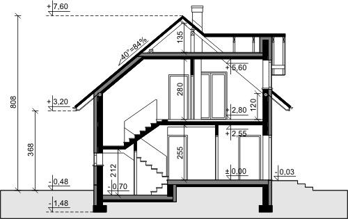 Dom przy Alabastrowej 6 - Przekrój