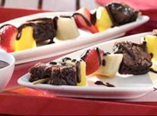 Brownie And Fruit Kabobs Recipe