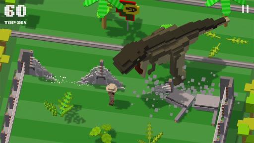 Télécharger Gratuit Jurassic Hopper: Crossy Dinosaur Shooter Game APK MOD (Astuce) screenshots 1