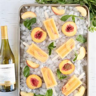 Peach Sangria Ice Pops