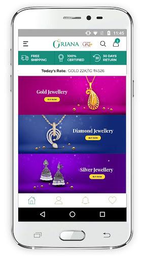 oriana.com by grt jewellers   online shopping screenshot 1