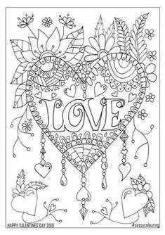 Printable valentine coloring page
