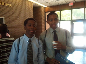 Photo: Miles w/ his roommate from TSU engineering camp