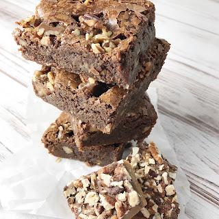 Fudge-y Toffee Brownies.