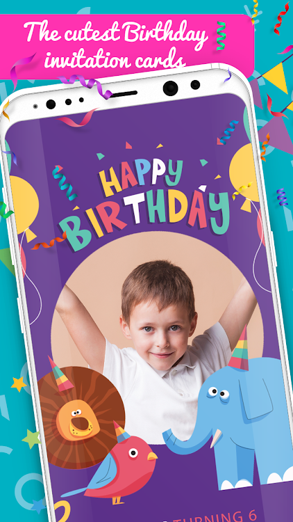 Create Birthday Invitation Card With Photo Android Apps