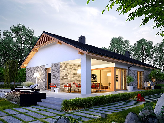 projekt domu daniel g2 tfz 659. Black Bedroom Furniture Sets. Home Design Ideas
