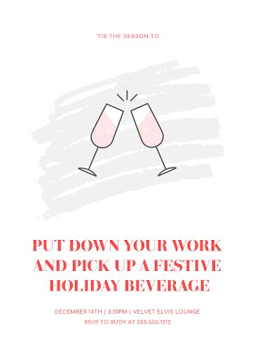 Festive Holiday Beverage - Christmas Card Template