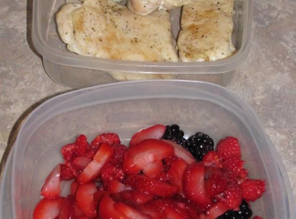 Chicken & berries waiting