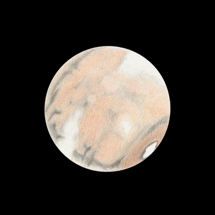 Photo: Le 14 mars à 21h05TU. T406 à 470X en bino. Mare Acidalium et Aurorae Sinus se couchent dans la brume.