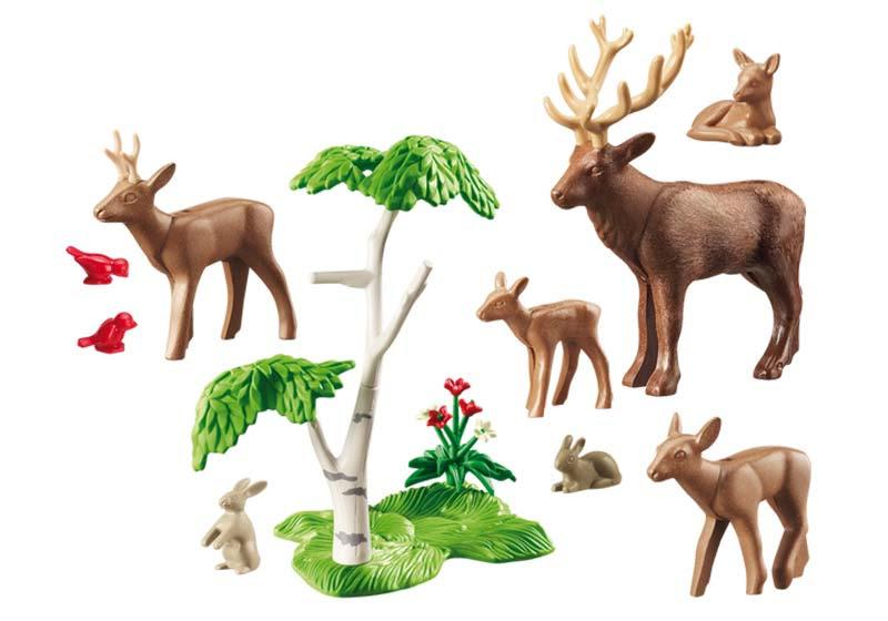 Contenido real de Playmobil® 6817 Familia de Ciervos