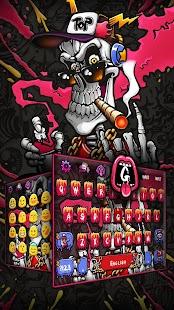 Hip Hop Skull Keyboard Theme - náhled