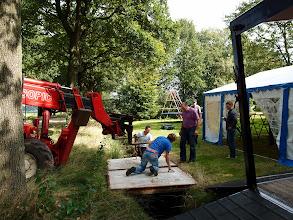 Photo: Zaterdag: opbouw van het parcours (zie foto 12 en verder voor de ploegentijdrit zelf).