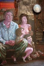 Photo: Antonio Berni Juanito y su familia mirando el televisor -detalle- 1974 ca. Colección particular, Buenos Aires. Expo: Antonio Berni. Juanito y Ramona (MALBA 2014-2015)