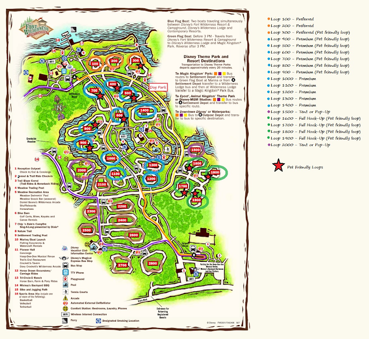 Disney World Campground Map on