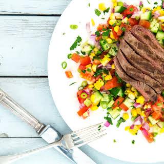 Mexican Salsa + Steak Salad.