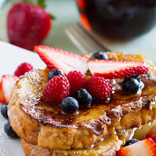 Ice Cream Soaked French Toast