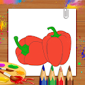 Vegetables Coloring Book & Drawing Book- Kids Game icon
