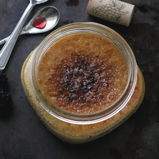 Red Wine Creme Brulee