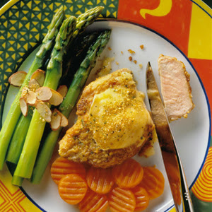 Mustard Baked Chops with Brie