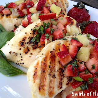Grilled Chicken Breasts with Strawberry Basil Salsa Recipe