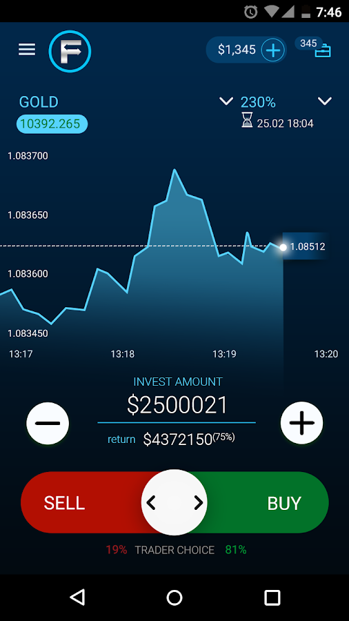Forex, CFDs,  Binary Options Trading by OptionFair- screenshot