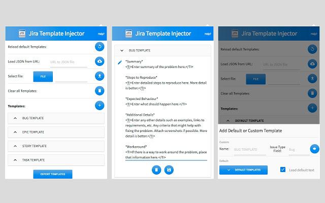 JIRA Template Injector (Autosync Templates)