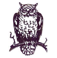 Tim Holtz Sizzix Thinlits Die - Ornate Owl