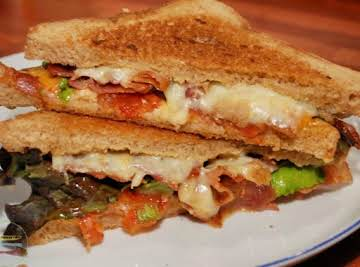 the BLT grilled cheese sandwich