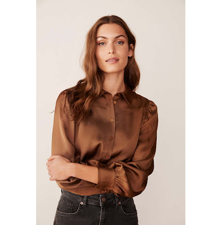 Part Two Erisa blouse hazel brown
