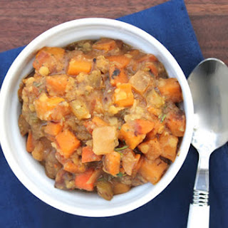 Slow Cooker Red Lentil and Butternut Squash Stew.