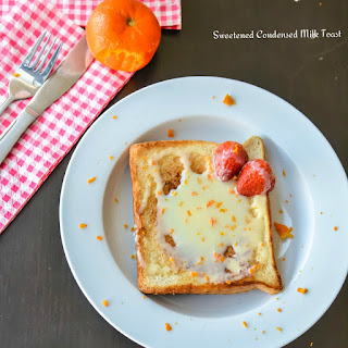 Sweetened Condensed Milk Toast with Orange Zest Recipe