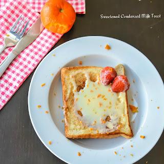Sweetened Condensed Milk Toast with Orange zest.