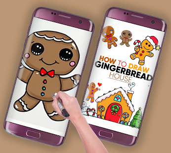 how to draw a gingerbread man