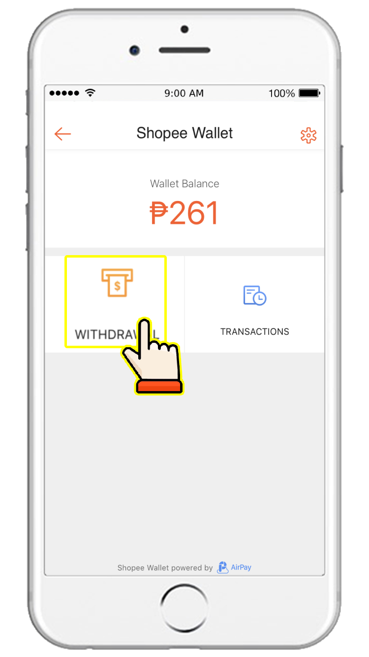 How do I withdraw money from my Shopee Wallet?