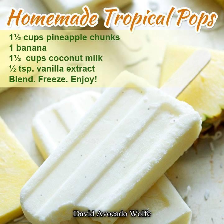 Homemade Tropical Pops Recipe