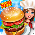 Crazy Burger Recipe Cooking Game: Chef Stories icon