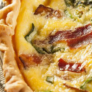 Bacon and Spinach Quiche.