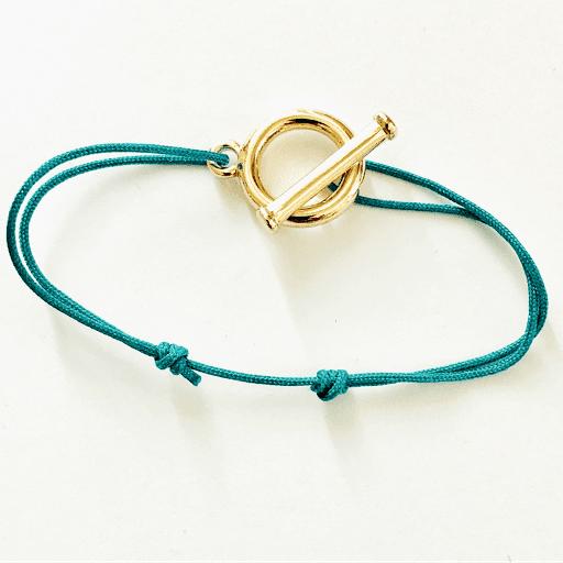 Bracelet fermeture anneau Plaqué or