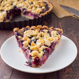 Blueberry Bourbon Cornmeal Crumble Tart