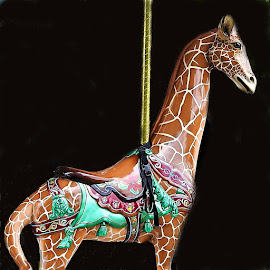 Merry Go Round Giraffe by Mary Gallo - Artistic Objects Other Objects ( giraffe, merry go  round, statue, artistic object, object,  )