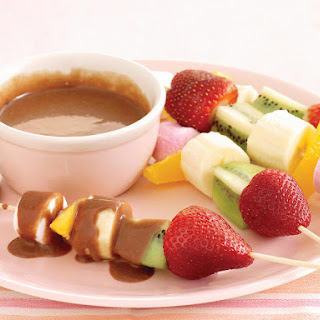 Chocolate Fondue with Fruit Skewers
