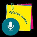 Voice notes/memos icon