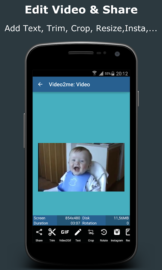 Video2me:Gif Maker,Video Edit- screenshot